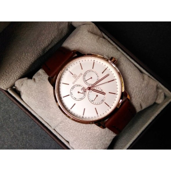 Naviforce Business Leather Gold NF3001