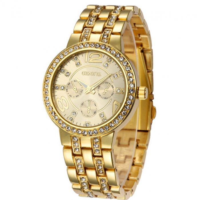 Жіночий годинник Geneva Gold. Купити годинник Geneva Gold у Києві Дніпропетровську  в інтернет магазині Бест Тайм 357fe97857545