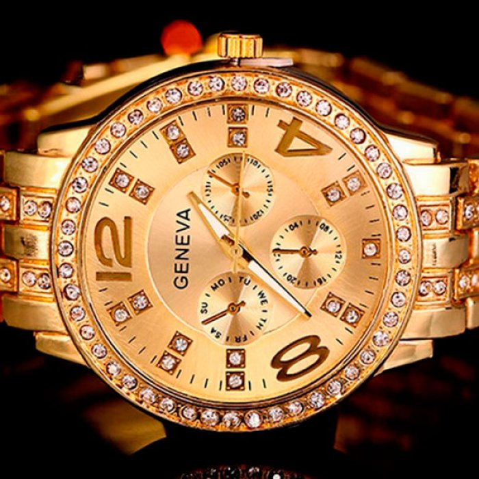 459cbba6 Женские часы Geneva Gold. Купить часы Geneva Gold в Киеве ...