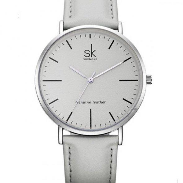 Shengke Leather Grey