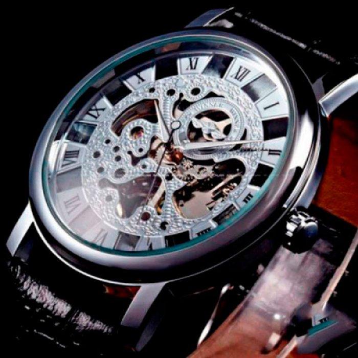 493eb81af284 Мужские часы скелетоны Winner Silver. Купить часы скелетоны Winner ...