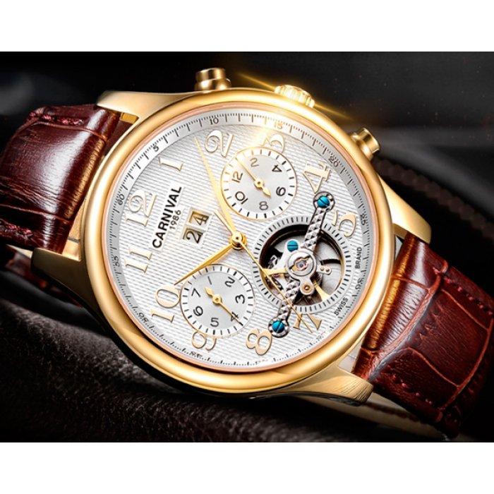 Чоловічий годинник Carnival Swiss Brown. Купити годинник Carnival ... 53a3c7090def4
