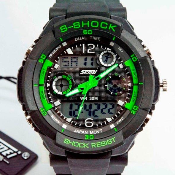 Skmei S-Shock Green 0931