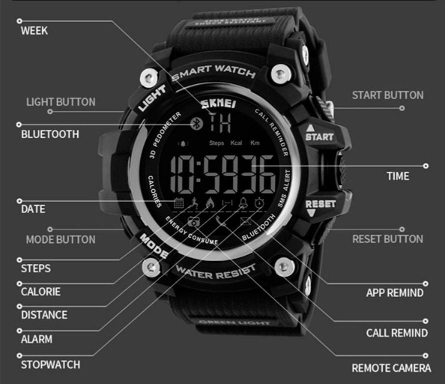 Skmei Smart Watch 1227 Black