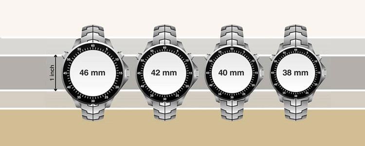 Це найбільш очевидний і помітний параметр годинника. Чоловічі годинники  зазвичай коливаються в розмірі від 38 до 46 мм. Все 036d427889cd7